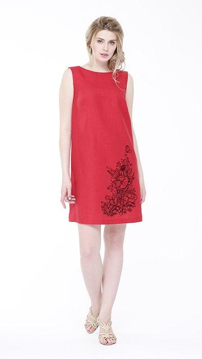 Фото 6 - Платье льняное базовое.