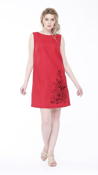 Фото 5 - Платье льняное базовое.