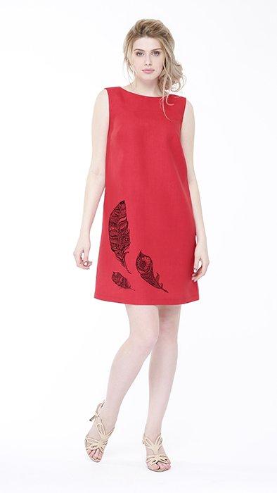 Фото 4 - Платье льняное базовое.