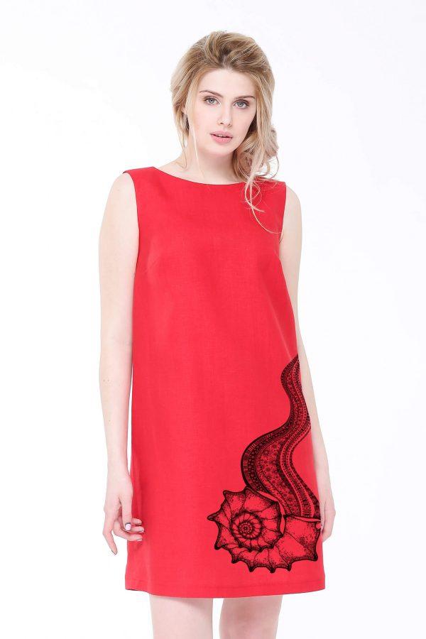 Фото 3 - Платье льняное базовое.