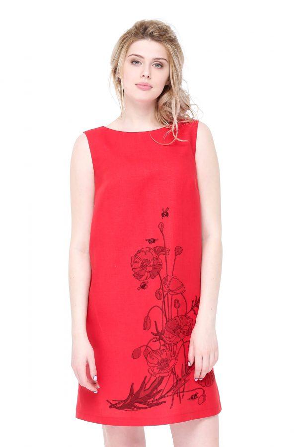 Фото 8 - Платье льняное базовое.