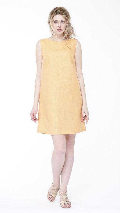 Фото 16 - Платье льняное базовое.