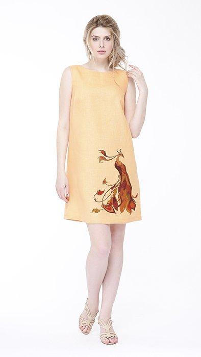 Фото 15 - Платье льняное базовое.