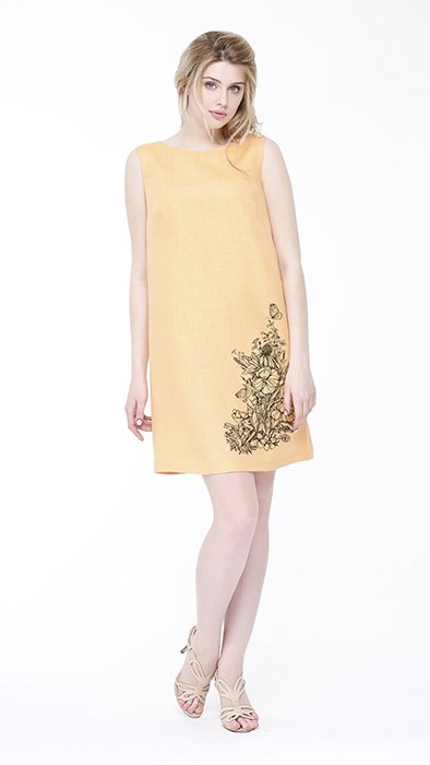 Фото 14 - Платье льняное базовое.