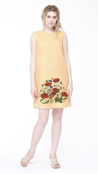 Фото 13 - Платье льняное базовое.