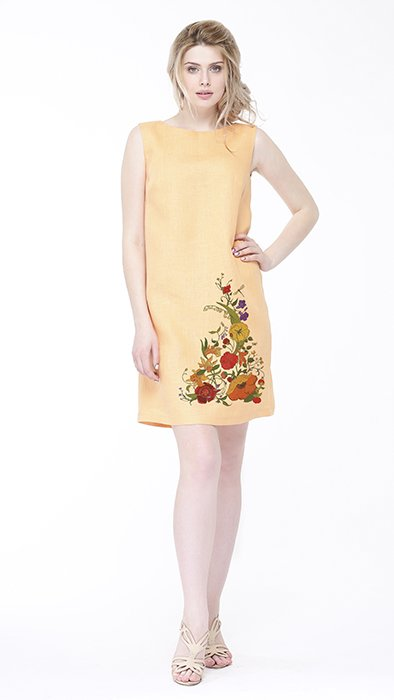 Фото 12 - Платье льняное базовое.