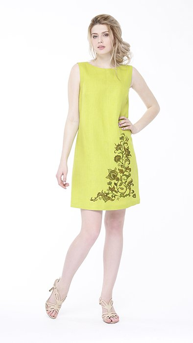 Платье льняное базовое