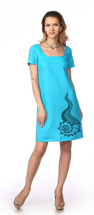 Фото 11 - Платье льняное.
