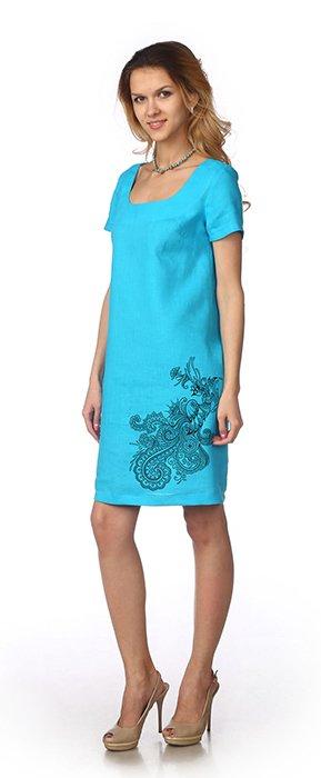 Фото 10 - Платье льняное.