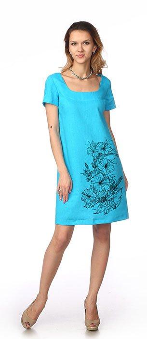 Фото 9 - Платье льняное.