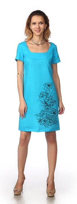 Фото 8 - Платье льняное.