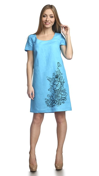 Фото 6 - Платье льняное.