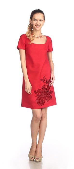 Фото 24 - Платье льняное.