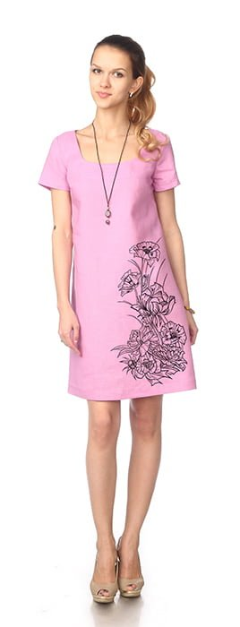 Фото 14 - Платье льняное.