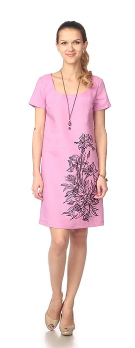 Фото 3 - Платье льняное.