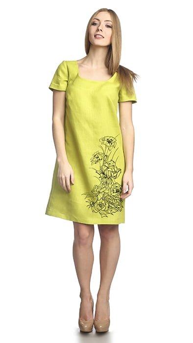 Фото 18 - Платье льняное.