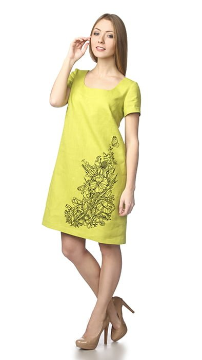Фото 17 - Платье льняное.