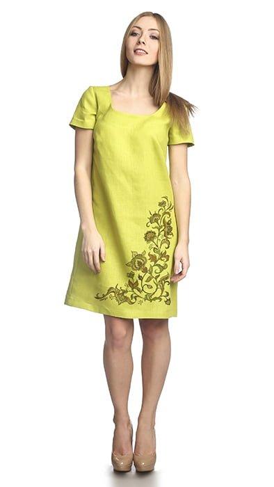 Фото 15 - Платье льняное.