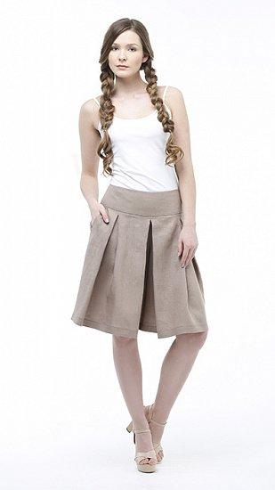 Фото 4 - Шорты-юбка льняные женские.