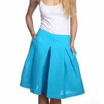 Фото 21 - Шорты-юбка льняные женские.
