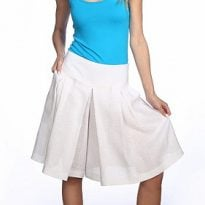 Фото 19 - Шорты-юбка льняные женские.