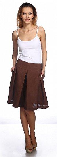 Фото 11 - Шорты-юбка льняные женские.