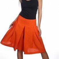 Фото 14 - Шорты-юбка льняные женские.