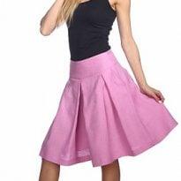Фото 16 - Шорты-юбка льняные женские.