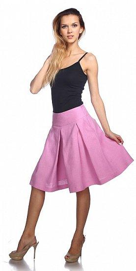 Фото 3 - Шорты-юбка льняные женские.