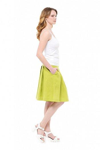 Шорты-юбка льняные женские