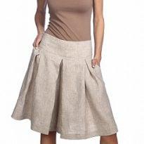 Фото 15 - Шорты-юбка льняные женские.