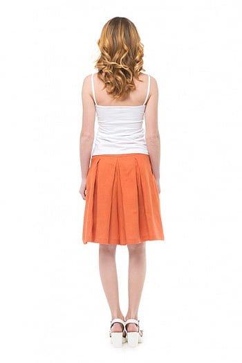 Фото 5 - Шорты-юбка льняные женские.