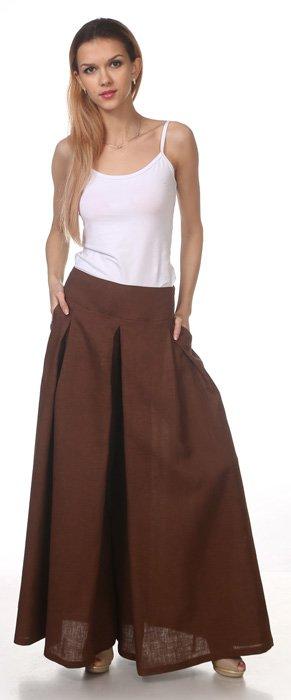 Фото 15 - Юбка-брюки льняная.