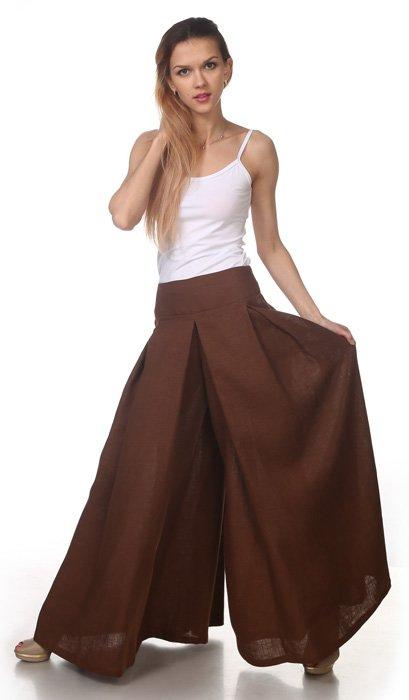 Фото 14 - Юбка-брюки льняная.