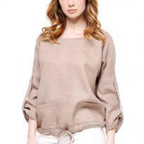 Фото 3 - Блуза льняная с карманами.