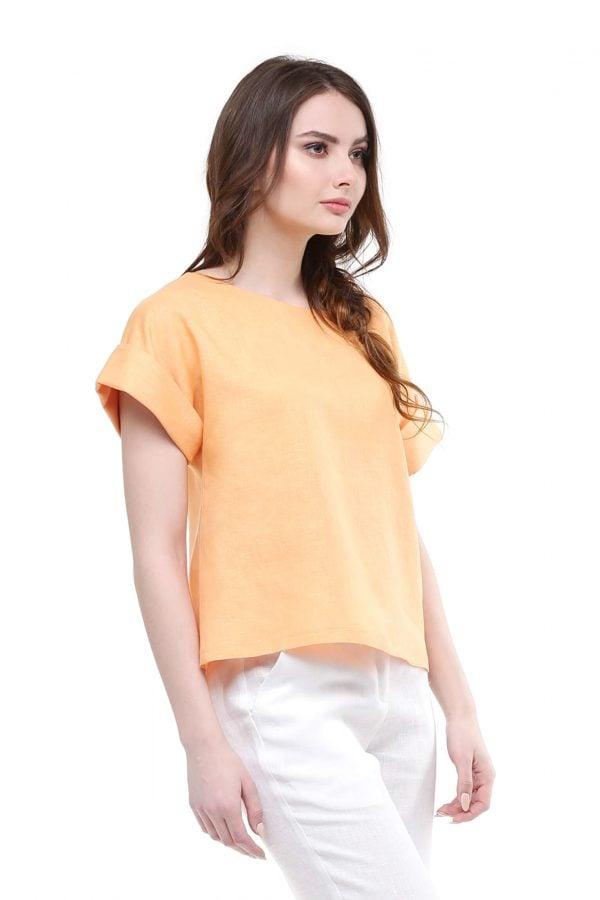 Фото 6 - Блуза льняная с отворотами.