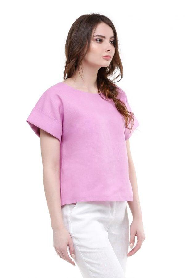 Фото 14 - Блуза льняная с отворотами.