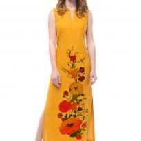 Фото 55 - Платье льняное длинное.