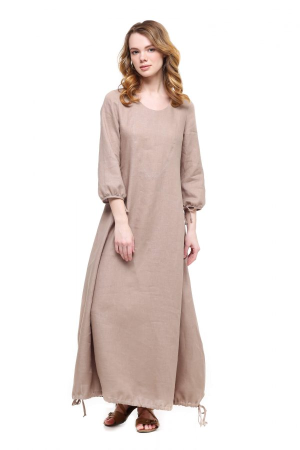 Фото 29 - Платье с кулиской по линии низа.