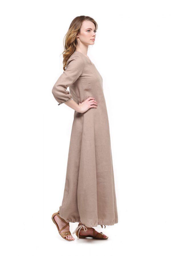 Фото 28 - Платье с кулиской по линии низа.