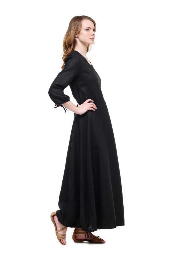 Фото 26 - Платье с кулиской по линии низа.