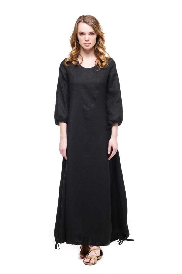 Фото 24 - Платье с кулиской по линии низа.