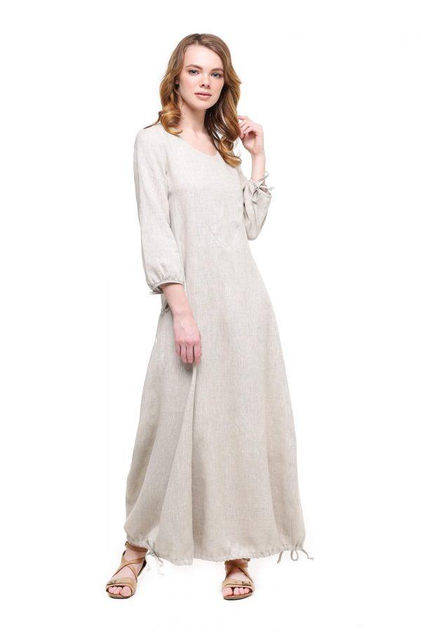 Фото 20 - Платье с кулиской по линии низа.