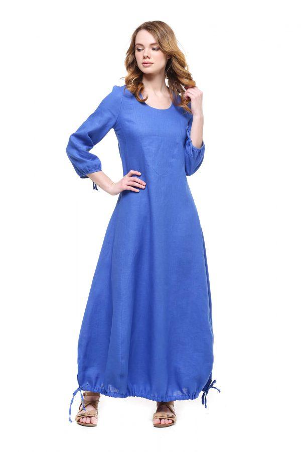 Фото 18 - Платье с кулиской по линии низа.