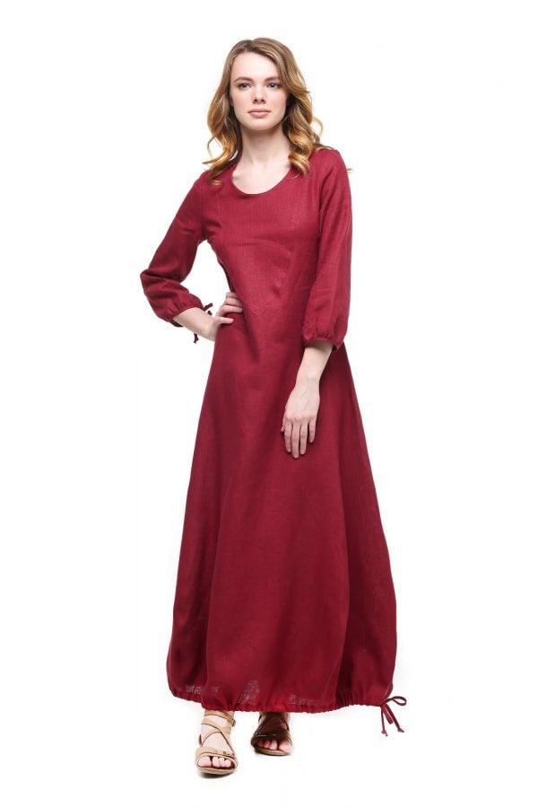 Фото 7 - Платье с кулиской по линии низа.