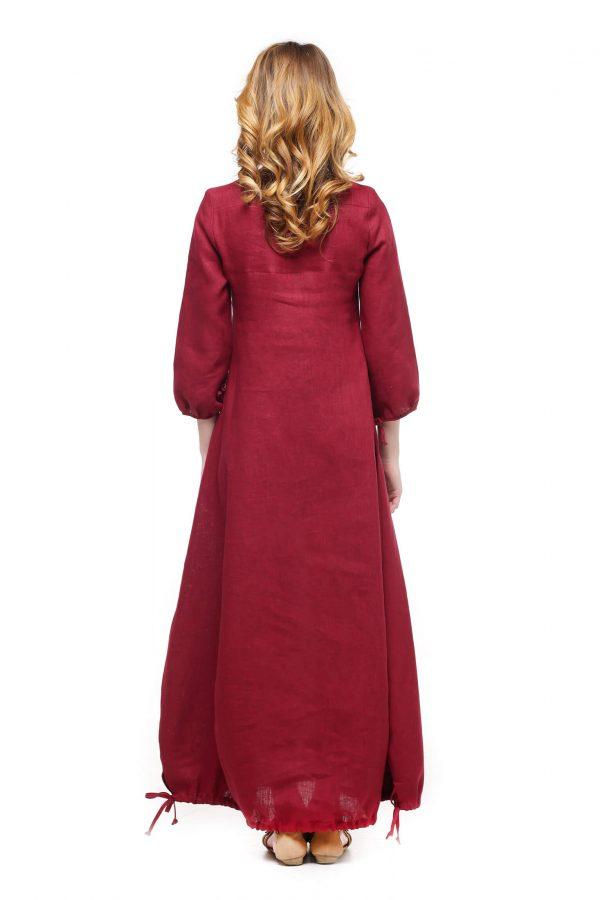 Фото 5 - Платье с кулиской по линии низа.