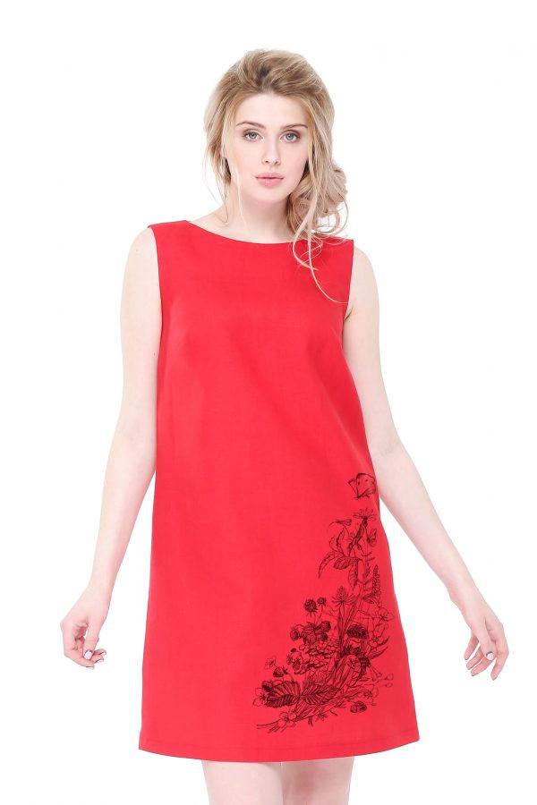 Фото 11 - Платье льняное базовое.