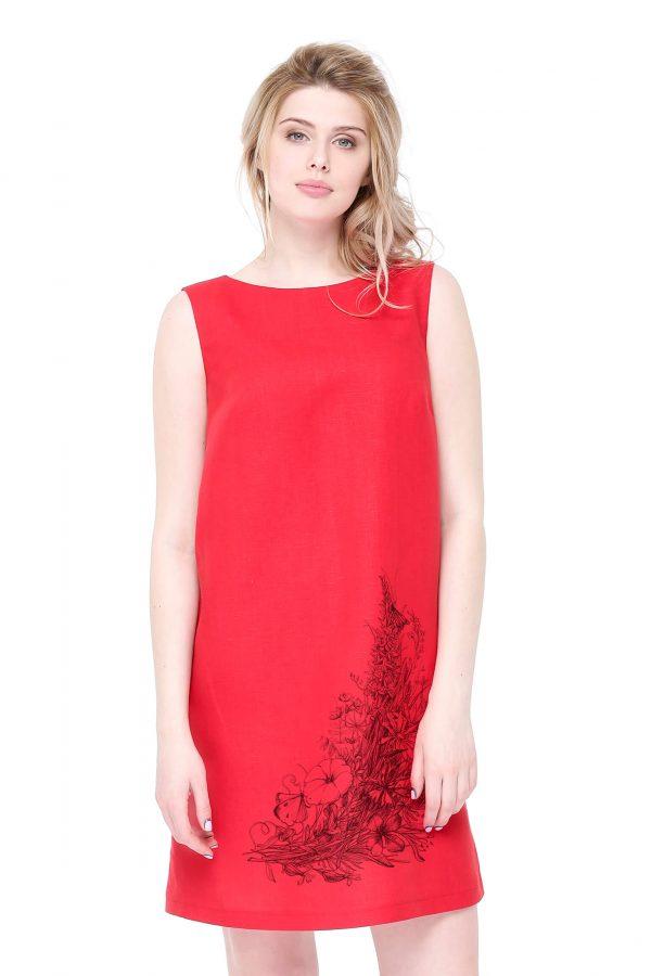 Фото 10 - Платье льняное базовое.