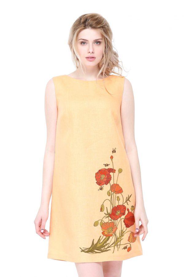 Фото 20 - Платье льняное базовое.