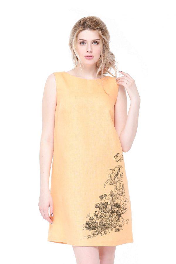 Фото 19 - Платье льняное базовое.